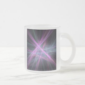 Futuristic Abstract Fractal Design Frosted Glass Mug