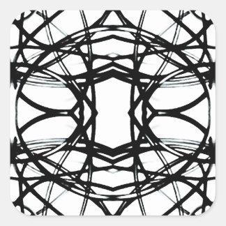 Futuristic Minimal Pattern Square Sticker