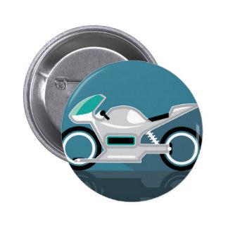 Futuristic motorcycle 6 cm round badge