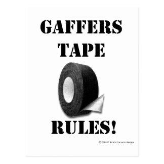 Gaffers Tape Rules Postcard