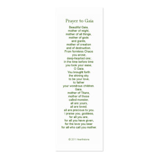 Gaia Prayer Card Pack Of Skinny Business Cards
