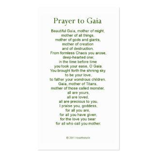 Gaia Prayer Card Pack Of Standard Business Cards