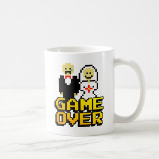 Game over marriage (8-bit) basic white mug