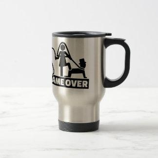 Game over wedding stainless steel travel mug