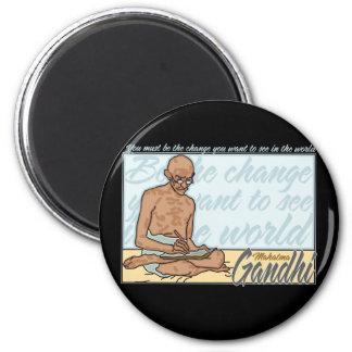 Gandhi Be The Change Quote 6 Cm Round Magnet
