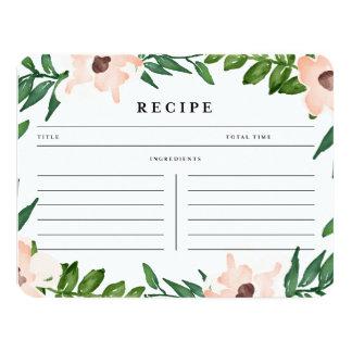Garden in White   Recipe Card 11 Cm X 14 Cm Invitation Card