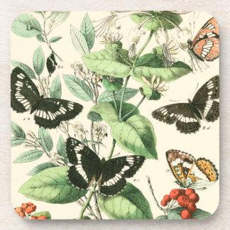 Garden of Butterflies and Flowers Coaster