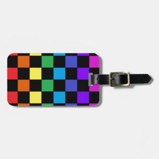 Gay Pride Rainbow Gifts - Rainbow Chessboard Travel Bag Tag