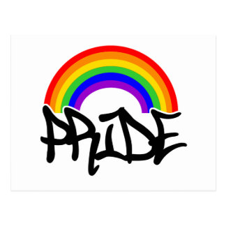 Gay Pride Rainbow Postcard
