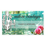 GC Adore Vintage Turquoise Basic Pack Of Standard Business Cards