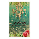 GC Adore Vintage Turquoise Gold Metallic Pack Of Standard Business Cards