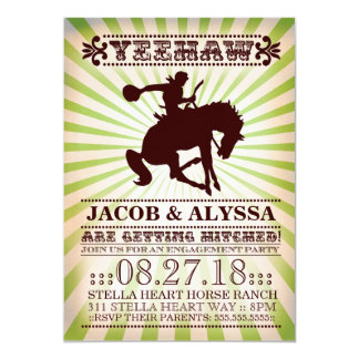 GC Yeehaw Rodeo Engagement Party Lime 13 Cm X 18 Cm Invitation Card