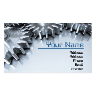 Gears Pack Of Standard Business Cards