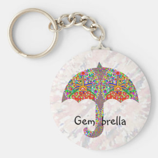 Gem - brella basic round button key ring