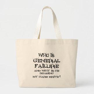 General Failure Jumbo Tote Bag