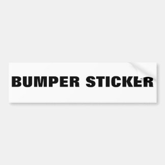 Generic Products Fad Bumper Sticker