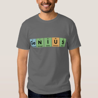 Genius - Periodic Table of Elements Products T-shirts