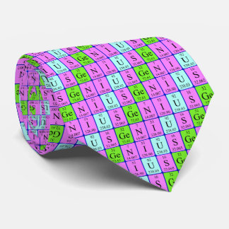 Genius periodic table tie