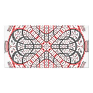 Geometric mandala customized photo card