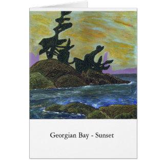 Georgian Bay - Sunset Greeting Card