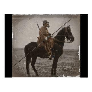 German Lancer on Horseback Postcard