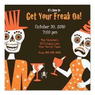 Get Your Freak On 13 Cm X 13 Cm Square Invitation Card