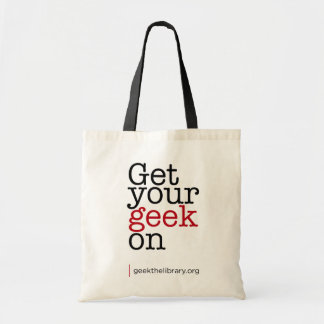 Get your geek on budget tote bag