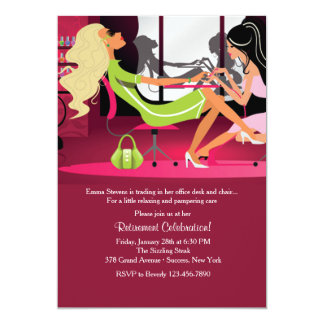 Getting Pampered Retirement Party Invitation