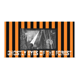 Ghostly Halloween Eyes Personalized Photo Card
