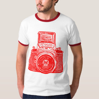 Giant East German Camera - Red T Shirts