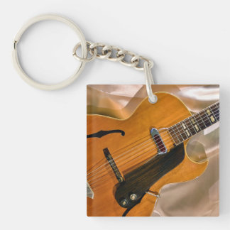 Gibson Jazz Guitar Single-Sided Square Acrylic Key Ring