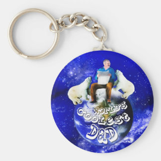 Gifts for Father's day or his birthday Basic Round Button Key Ring