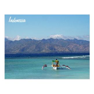 Gili Islands Boat Postcard