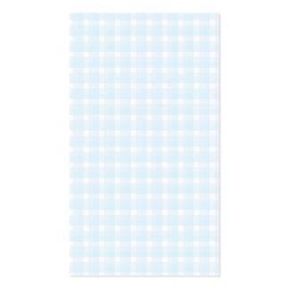 Gingham check pattern. Pale Blue and White. Pack Of Standard Business Cards