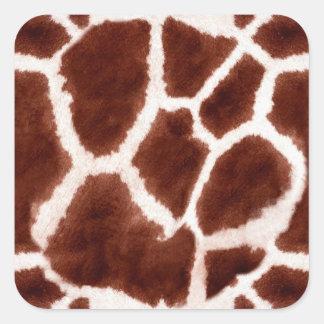 Giraffe Pattern Animal Print Square Sticker
