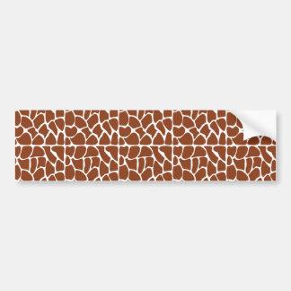 Giraffe Pattern. Brown. Bumper Sticker