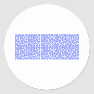 Giraffe Pattern. Sky Blue. Round Sticker