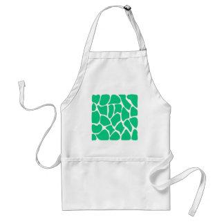Giraffe Print Pattern in Jade Green. Standard Apron