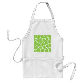 Giraffe Print Pattern in Lime Green. Standard Apron
