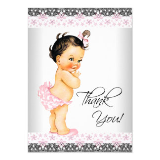 Girl Baby Shower Thank You 11 Cm X 16 Cm Invitation Card