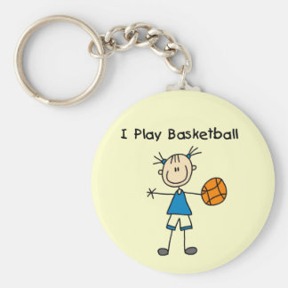 Girl I Play Basketball Tshirts and Gifts Basic Round Button Key Ring