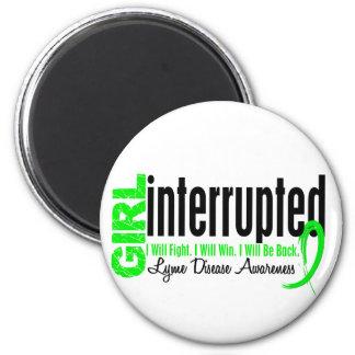 Girl Interrupted 1 Lyme Disease 6 Cm Round Magnet