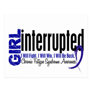 Girl Interrupted CFS Chronic Fatigue Syndrome Postcard