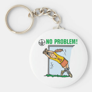 Girl Soccer Goalie Tshirts and Gifts Basic Round Button Key Ring