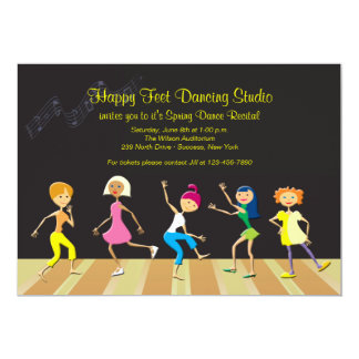 Girls Dancing Recital Invitation