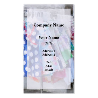 Girl's Dresses at Street Fair Pack Of Standard Business Cards