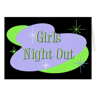Girls Night Out invitations Note Card