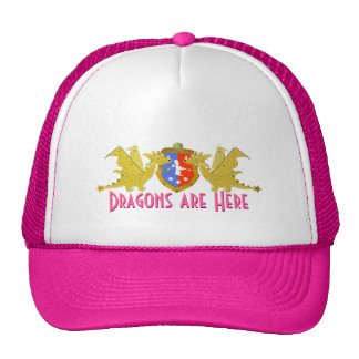 Girly Pink Dragons Are Here Cute Cartoon Dragons Cap