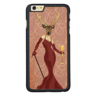 Glamour Deer in Marsala 2 Carved® Maple iPhone 6 Plus Case