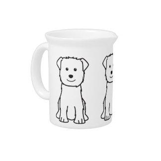Glen of Imaal Terrier Dog Cartoon Drink Pitcher